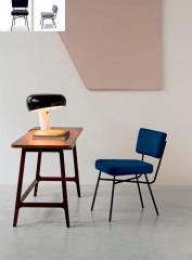 table bureau et siège avec revêtement personnalisé en tissu