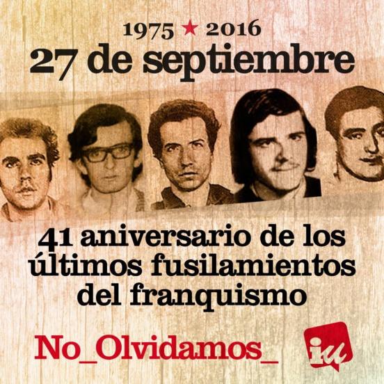 Il y a 41 ans, les dernières victimes du franquisme