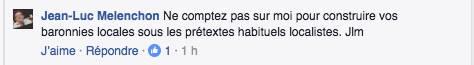 """Mélenchon dit """"NON"""" à Pierre Laurent"""