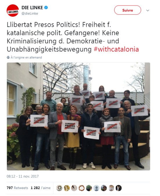 Die Linke demande la libération des prisonniers politiques catalans