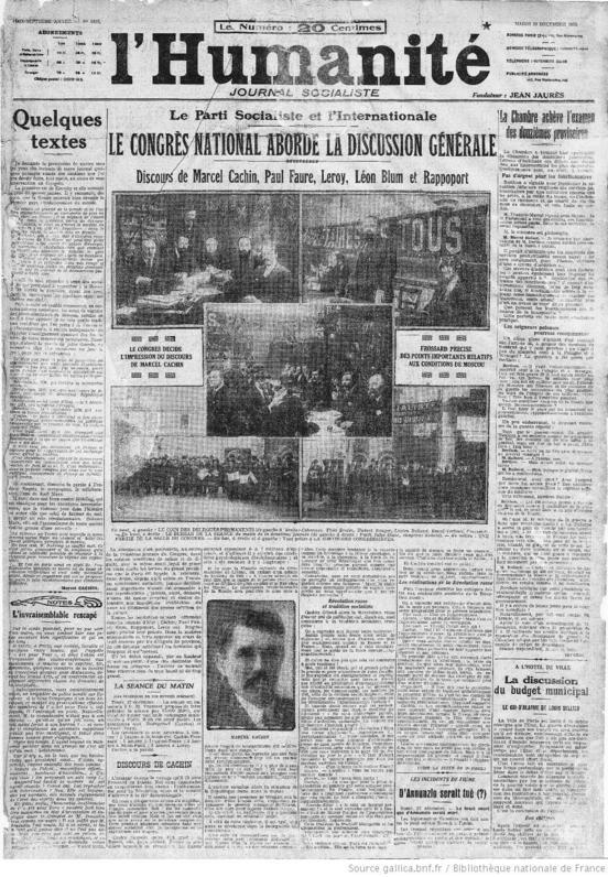 L'Humanité du 28 décembre 1920