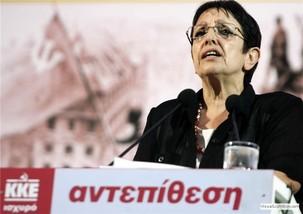 Aleka Papariga : Guerre à la guerre de la nouvelle coalition