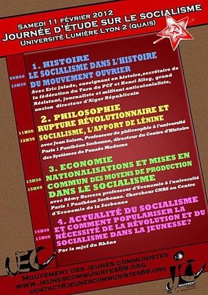 MJCF 69 : Journée sur le socialisme