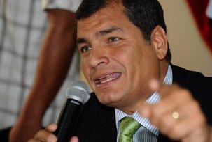 Rafael Correa Delgado, Président Socialiste de l'Equateur, soutien Jean Luc Mélenchon