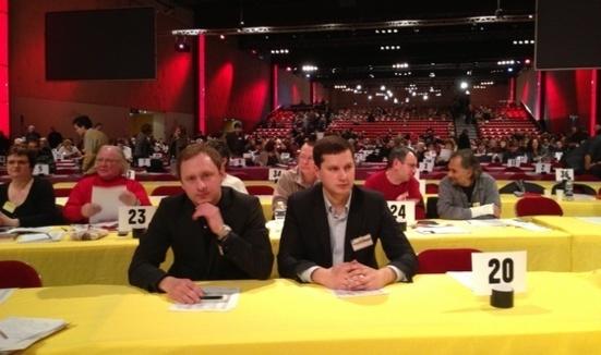 Les communistes ukrainiens présent du 36ème congrès du PCF