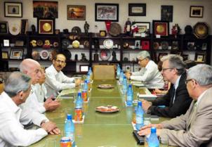 Cuba : Délégation officielle du PCF en visite