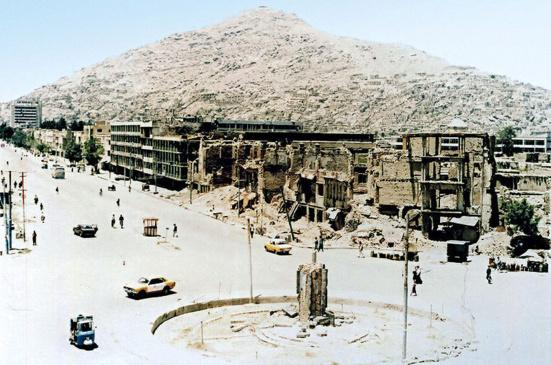 Kaboul après sa capture par les moudjahedins en 1992