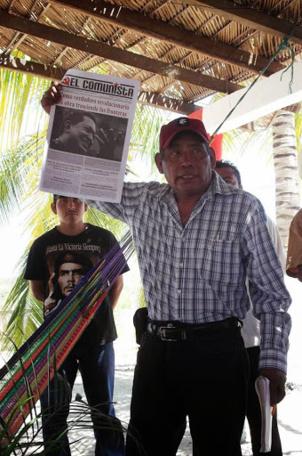 Raymundo Velasquez Flores, leader communiste paysan au Mexique (PCM) assassiné