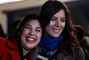 Karol Cariola et Camila Vallejo