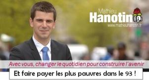 Le droit à la restauration pour tous remis en question par la majorité PS du Conseil général de Seine Saint Denis et à l'initiative de Mathieu Hanotin