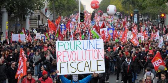 Marche pour la justice fiscale: PLUS DE 100 000 à PARIS !