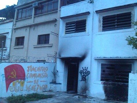 Attaque terroriste contre le siège national des Jeunesses communistes du Venezuela