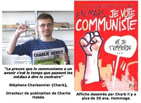 Charlie Hebdo/CHARB : « j'ai quasiment toujours voté communiste »