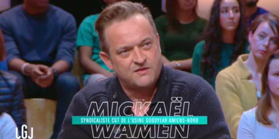 Le syndicaliste CGT Goodyear, Mickaël Wamen, met K.O. Macron