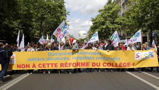 Plus de la moitié des professeurs en grève dans les collèges