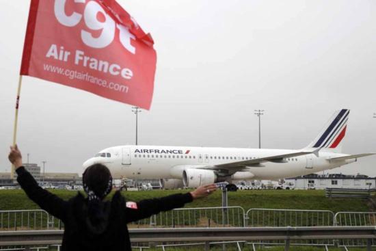 Solidarité. Réintégration des salariés d'Air France (CGT)