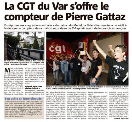 La CGT coupe l'électricité de la résidence secondaire de Pierre Gattaz