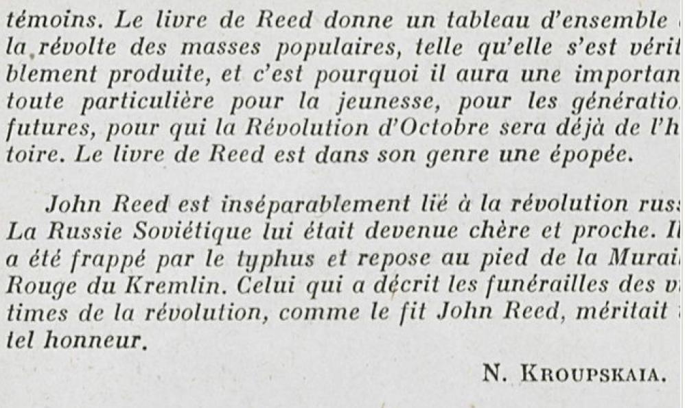 """Pour comprendre la Révolution d'Octobre : """"10 jours qui ébranlèrent le monde"""" (John Reed)"""