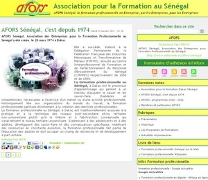 AFORS Association pour la Formation au Sngal