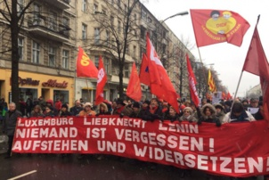 Nombreux furent ceux qui rendirent hommage à Rosa Luxembourg et à Karl Liebknecht