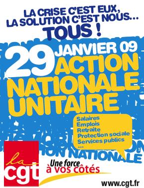 Journée de grèves et de manifestations interprofessionnelles du 29 janvier 2009