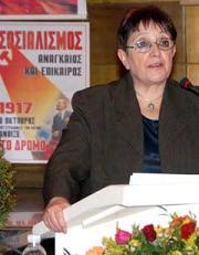 Aleka Papariga réélue à la tête du Parti communiste Grec (KKE)