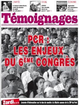 Présentation des enjeux du 6ème Congrès du Parti Communiste Réunionnais