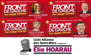 4 Députés du Front de Gauche et 1 Député de l'Alliance des Outre-Mers élus