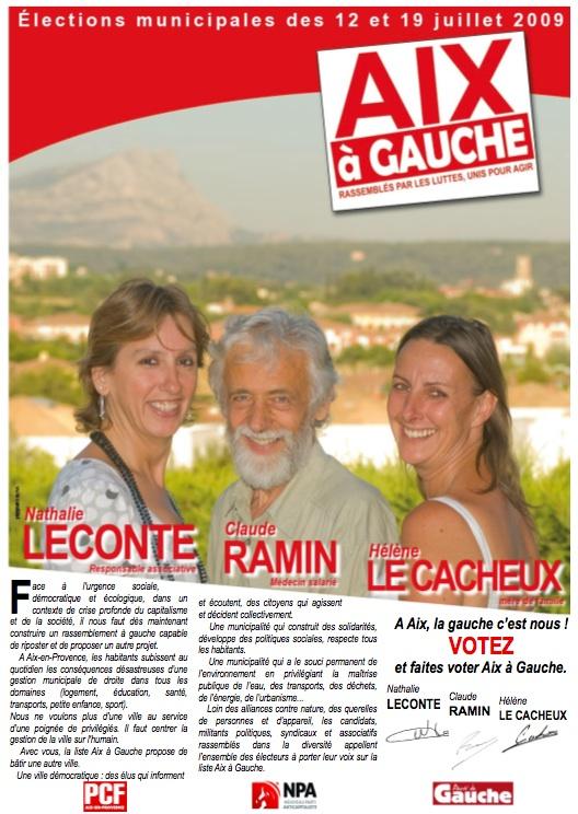 Aix à Gauche : Rassemblés par les luttes, unis pour agir