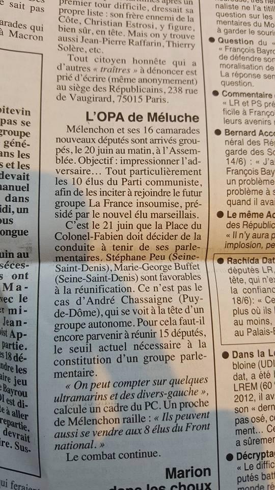 """""""Ils peuvent aussi se vendre aux 8 élus du Front national"""" : Les méthodes puantes de la France Insoumise"""
