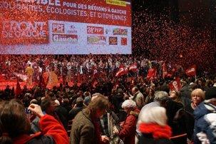 """Régionales : Salle comble pour soutenir la """"vraie gauche"""" lors du premier meeting du Front de Gauche"""