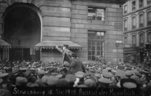 En novembre 1918 était constituée la République des soviets d'Alsace-Lorraine