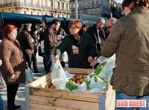 Pommes, salades et kiwis : distribution gratuite à Bordeaux