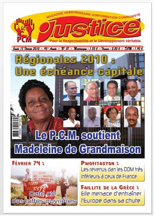 Le Parti Communiste Martiniquais avec Madeleine de Grandmaison