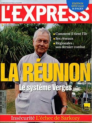 """Publication d'un numéro spécial """"Elections régionales"""" : """"L'Express"""" rend hommage à Paul Vergès"""