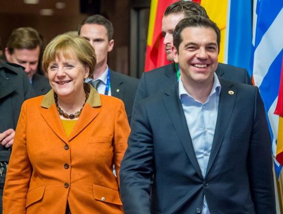 "Alexis Tsipras presse Martin Schulz d'accepter une grande coalition ""cruciale pour l'Europe"" avec Angela Merkel"