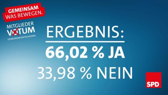 Allemagne : le SPD approuve l'accord de coalition avec les conservateurs d'Angela Merkel