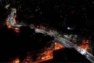 Arrivée de la longue marche vers 5 du matin à Mumbai