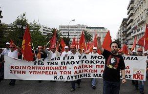 40.000 communistes déferlent sur Athènes