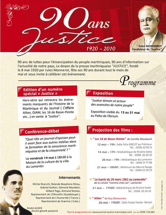 """L'hebdo communiste martiniquais """"JUSTICE"""" fête ses 90 ans"""