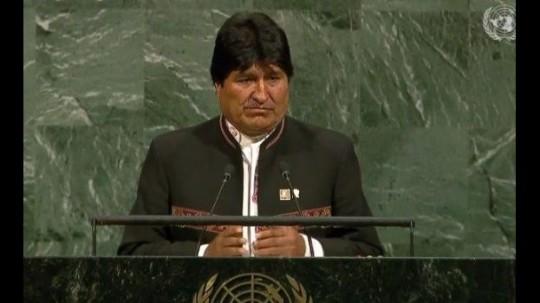Evo Morales appelle l'ONU à combattre le capitalisme et à protéger la terre