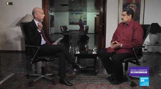 """Maduro à France 24 : """"La présidentielle sera un succès malgré les persécutions de Washington"""""""