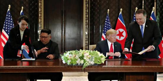 Rencontre historique entre Kim Jong-un et Donald Trump