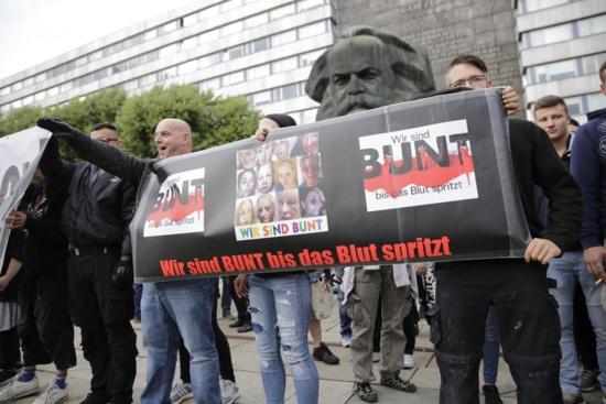 Karl-Marx-Statd (Chemnitz) en proie aux violences nazis