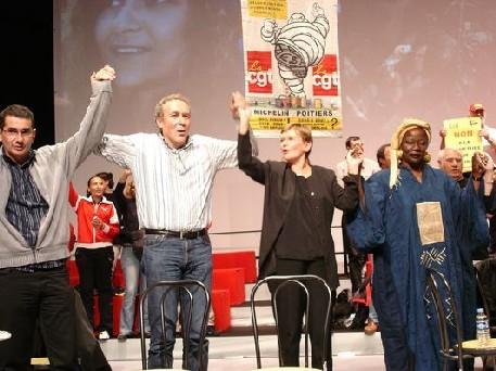 Union des travailleurs en luttes,et du PCF le 22 octobre 2005