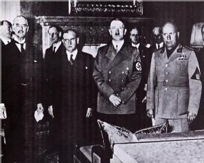 Les signataires des accords de Munich en 1938