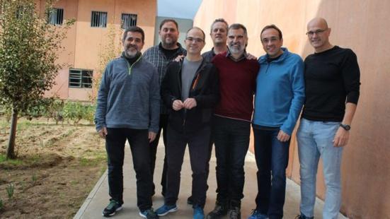 Joaquim Forn et Josep Rull en la grève de la faim illimitée