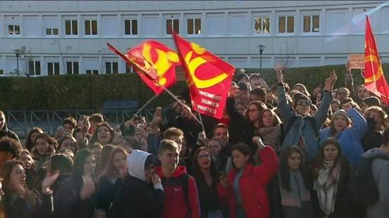 Manifestation des lycéens au Havre : 17 interpellations
