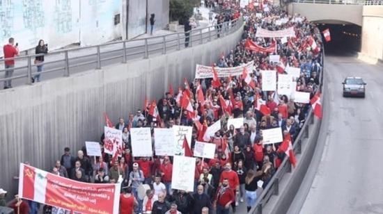"""Au Liban, les communistes manifestent contre la vie chère : """"Nous sommes inspirés par les gilets jaunes"""""""