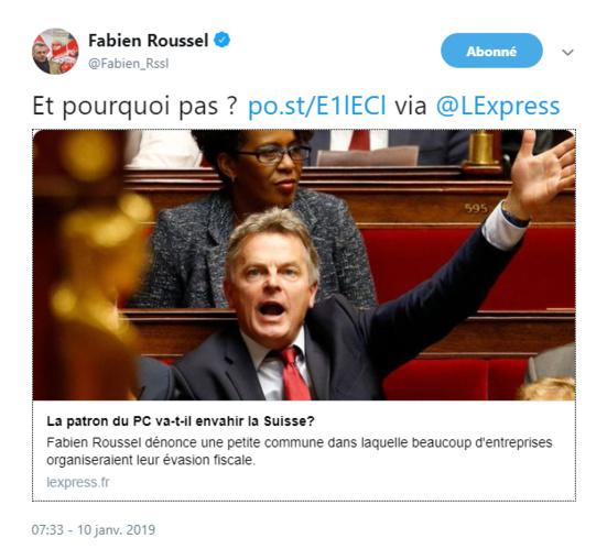 """Fabien Roussel (PCF) veut-il envahir la Suisse ? """"Pourquoi pas"""" répond-il"""